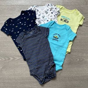 Carter's Outer Space 5 Pack Onesies 6M